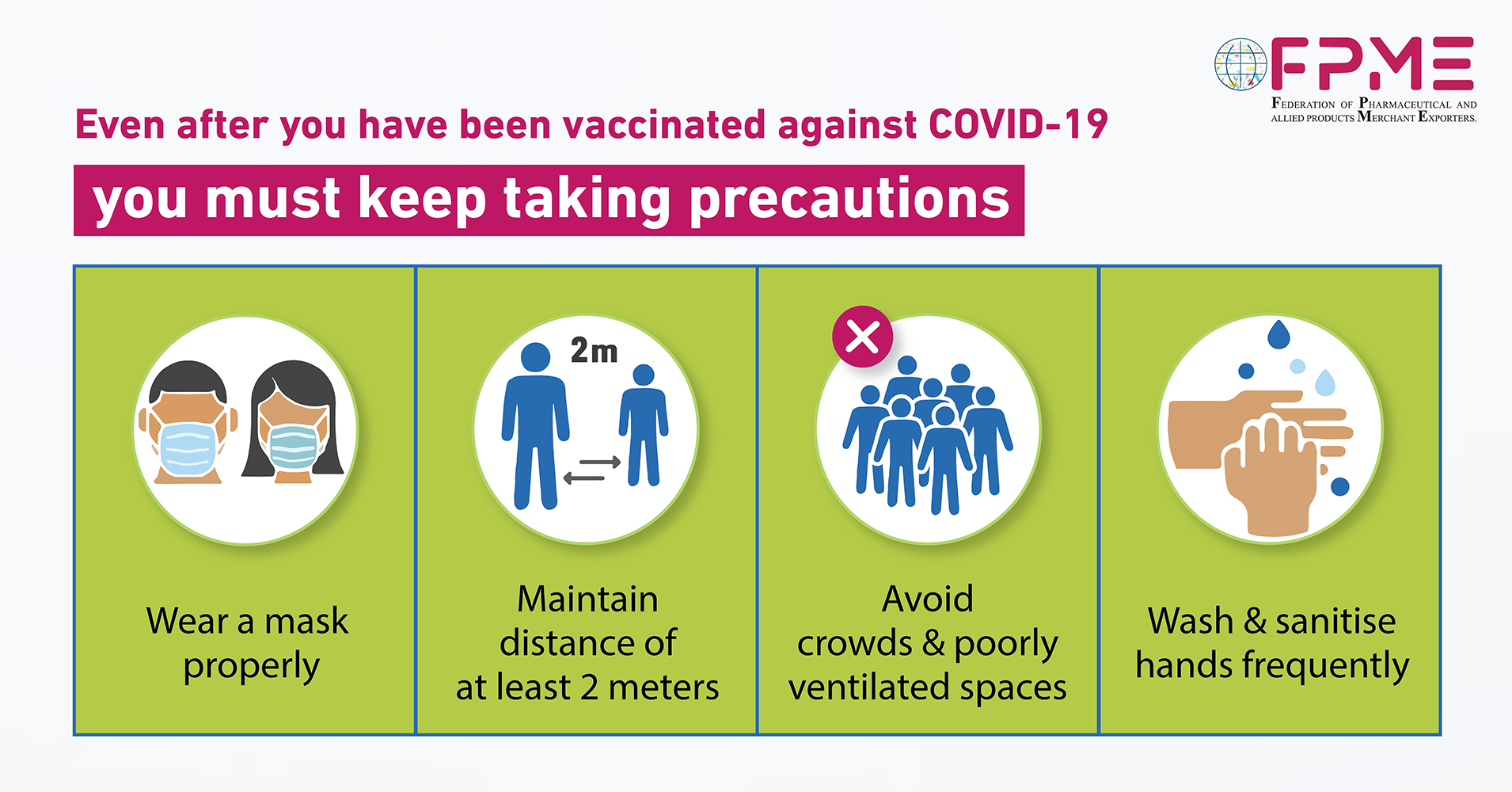 precautions after vaccinated